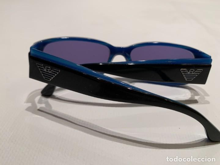 Vintage: Gafas de sol firma EMPORIO ARMANI, color azul. Made in Italy. Perfectas. - Foto 6 - 208391750