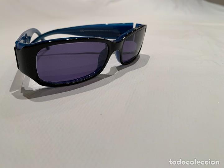 Vintage: Gafas de sol firma EMPORIO ARMANI, color azul. Made in Italy. Perfectas. - Foto 9 - 208391750