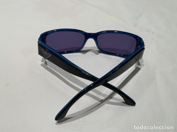 Vintage: Gafas de sol firma EMPORIO ARMANI, color azul. Made in Italy. Perfectas. - Foto 11 - 208391750