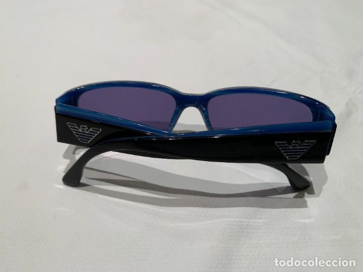 Vintage: Gafas de sol firma EMPORIO ARMANI, color azul. Made in Italy. Perfectas. - Foto 12 - 208391750