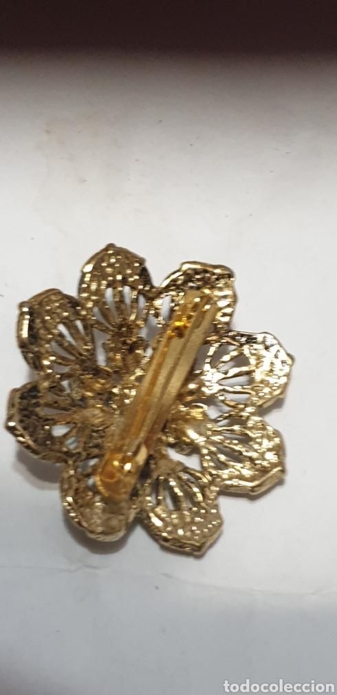Vintage: Elegante broche antiguo flor.dorado - Foto 2 - 209013221