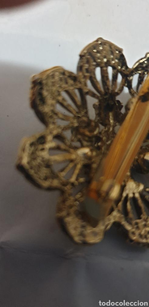 Vintage: Elegante broche antiguo flor.dorado - Foto 3 - 209013221