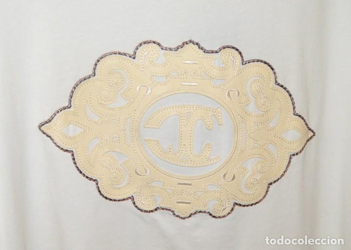 Vintage: ORIGINAL JUST CAVALLI / T-SHIRT / CAMISETA MANGA LARGA - CON ETIQUETAS ORIGINALES - BORDADO EN CUERO - Foto 3 - 209043050