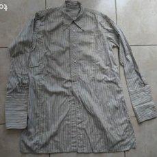 Vintage: CAMISA O BLUSON ANTIGUO TELA TIPO RAYADILLO. Lote 209760805