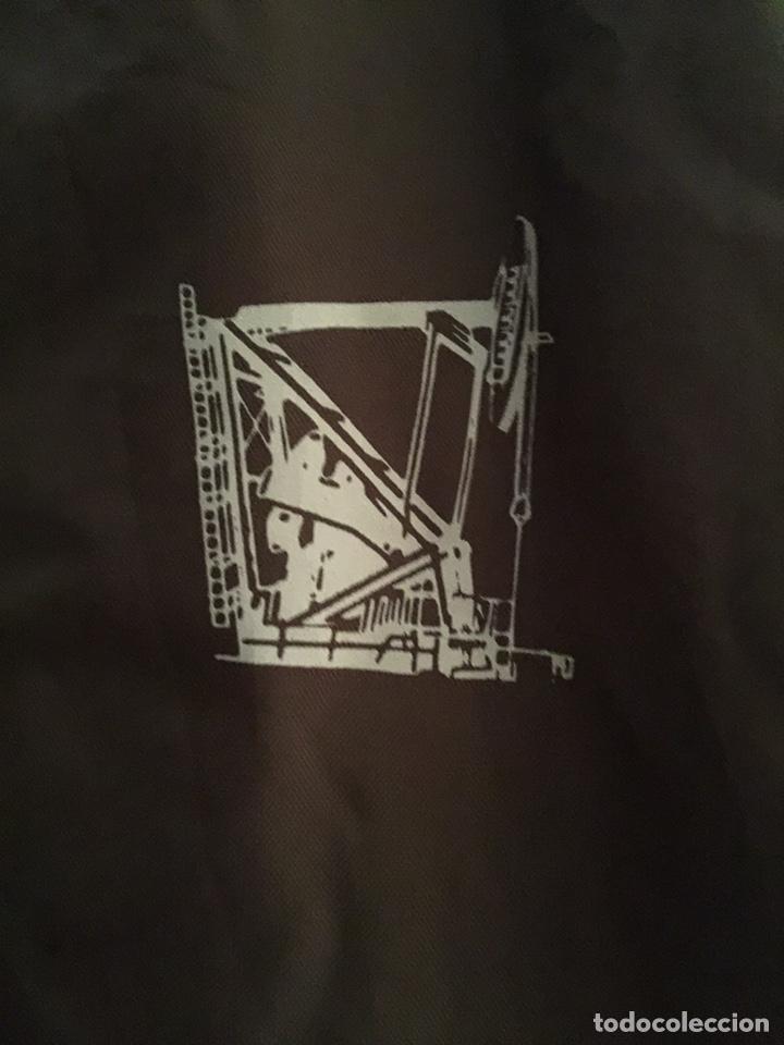 Vintage: Chaqueta Satin jacket marrón. Chaqueta deportiva. Talla M. Construcción USA - Foto 3 - 209911712