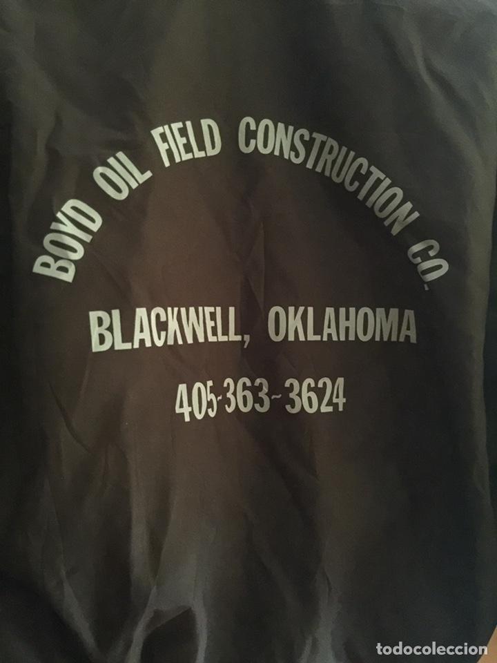 Vintage: Chaqueta Satin jacket marrón. Chaqueta deportiva. Talla M. Construcción USA - Foto 5 - 209911712