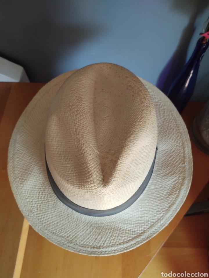 SOMBRERO PAJA TOQUILLA. TALLA 58-59. PANAMÁ HATS (Vintage - Moda - Complementos)