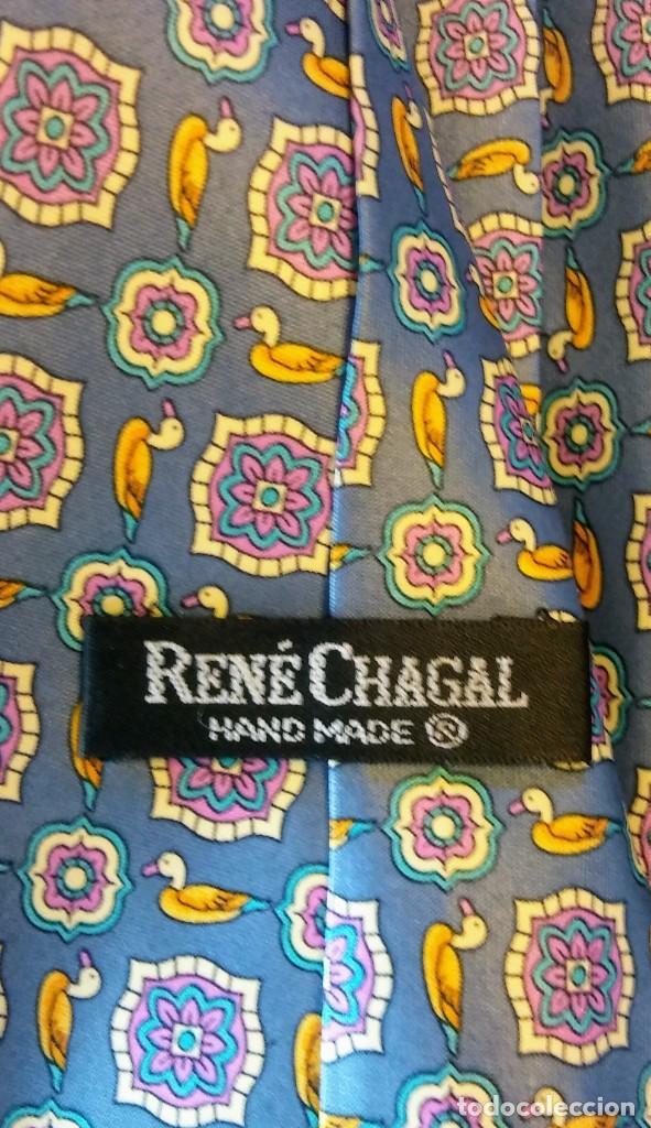 Vintage: CORBATA RENE CHAGAL. SEDA - Foto 2 - 210544182