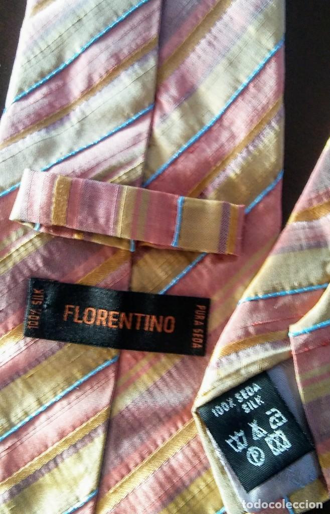 Vintage: CORBATA FLORENTINO 100% SEDA - Foto 2 - 210567152