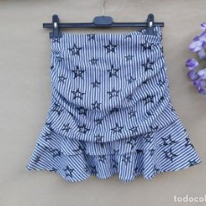 Vintage: FALDA MINIFALDA MARCA DELPHINE NUEVA. Lote 210788625