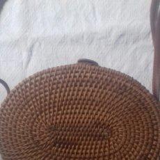 Vintage: BOLSO RATAN OVALADO. Lote 211387285