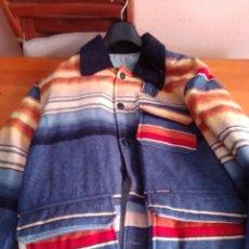 Vintage: ROPA HOMBRE ABRIGO ROCKABILLY INDIO OTOÑO ETIQUETA AÑOS 80. Lote 211450602