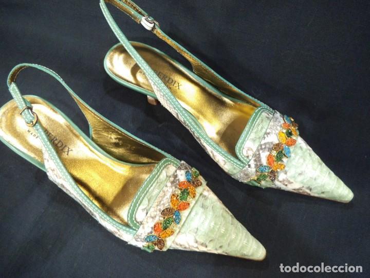 ZAPATOS DE PITÓN VERDE ESMERALDA (Vintage - Moda - Mujer)