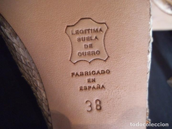 Vintage: ZAPATOS DE PITÓN NARANJA - Foto 6 - 211511396