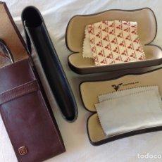 Vintage: LOTE DE 5 FUNDAS DE GAFAS, DE CUERO Y MATERIAL SINTÉTICO.. Lote 211779515