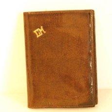 Vintage: BILLETERA DE PIEL CON INICIALES EN ORO. Lote 212251110