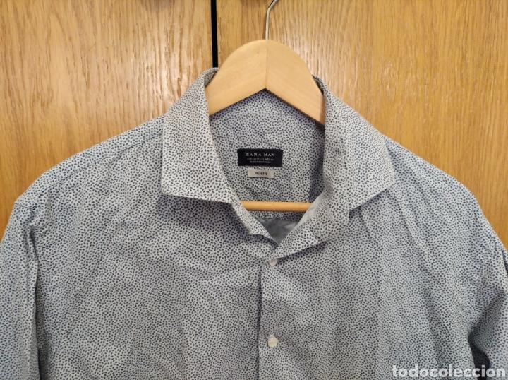 Vintage: Camisa Zara men talla XL azul hombre - Foto 2 - 212270871