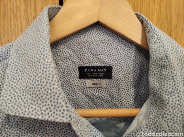 Vintage: Camisa Zara men talla XL azul hombre - Foto 3 - 212270871