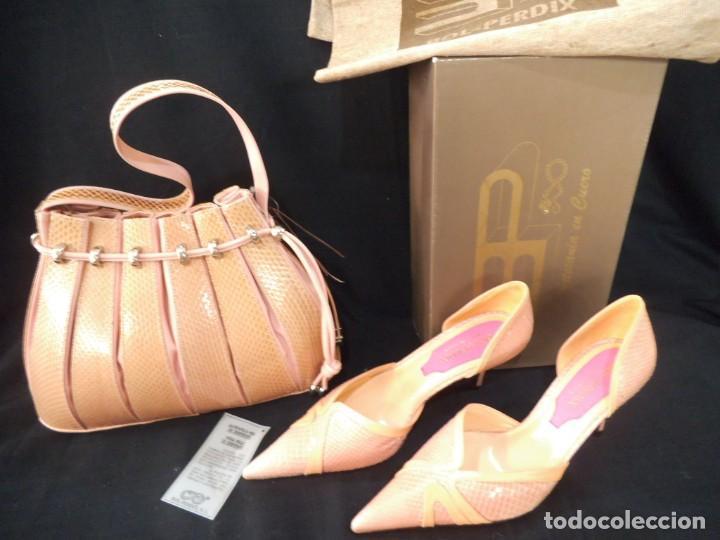 ZAPATOS DE SERPIENTE ROSA-PALO (Vintage - Moda - Mujer)