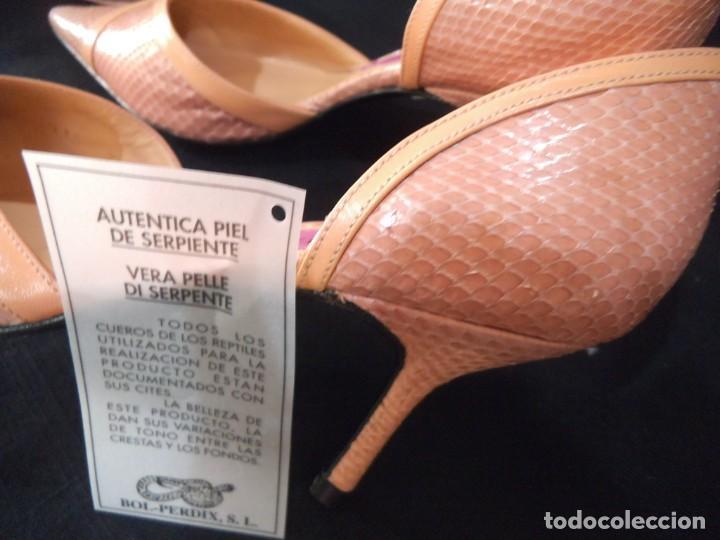 Vintage: ZAPATOS DE SERPIENTE ROSA-PALO - Foto 5 - 212646517