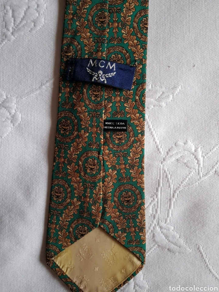 Vintage: Corbata Vintage seda natural de MCM - Foto 2 - 212704235
