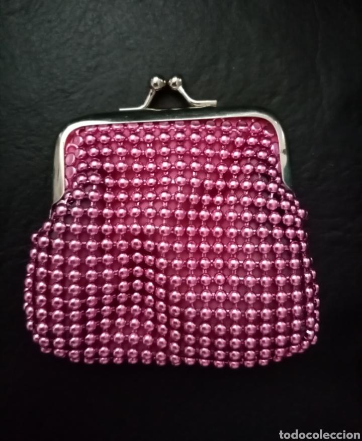 Vintage: Precioso monedero vintage rosa metálico y plateado 9cm x 8.5cm aproximadamente - Foto 2 - 213455866