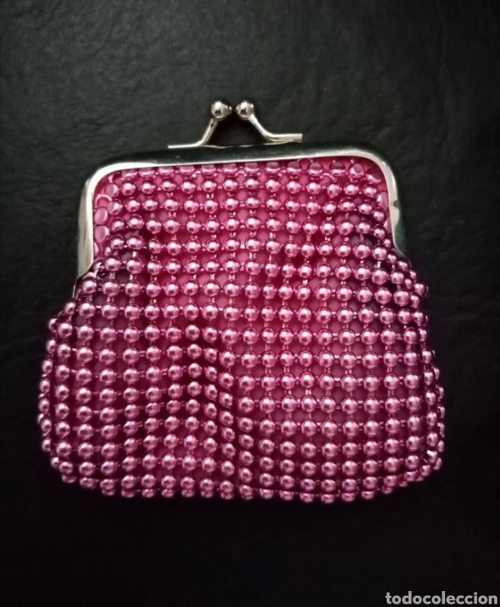 Vintage: Precioso monedero vintage rosa metálico y plateado 9cm x 8.5cm aproximadamente - Foto 3 - 213455866
