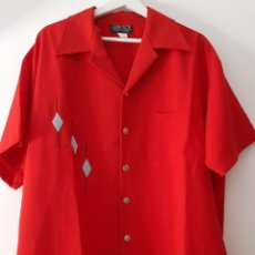 Vintage: CAMISA ROCKABILLY, AÑOS 50A. JOHNNY SUEDE MADE IN USA PSYCOBILLYS ROCKERS R&R 50TS. Lote 213614403