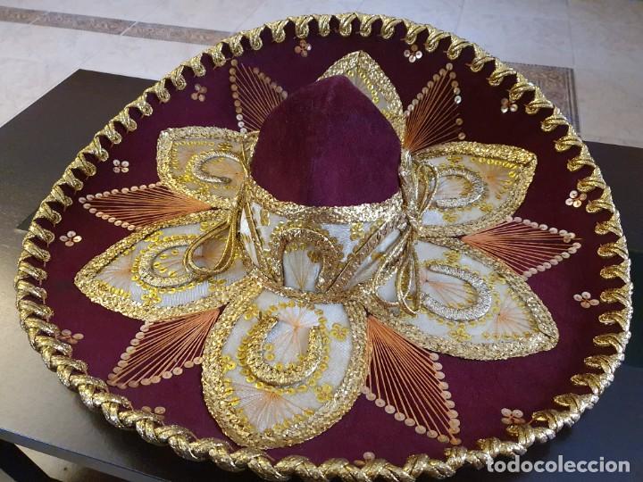 Vintage: SOMBRERO MEXICANO AUTÉNTICO - Foto 2 - 214780308