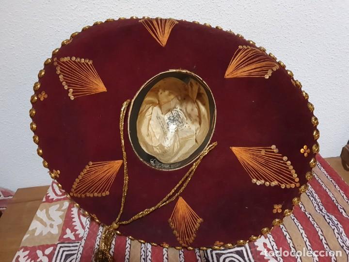 Vintage: SOMBRERO MEXICANO AUTÉNTICO - Foto 5 - 214780308