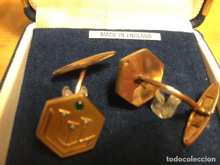Vintage: gemelos camisa, dorado mate, con adorno. - Foto 3 - 214821496