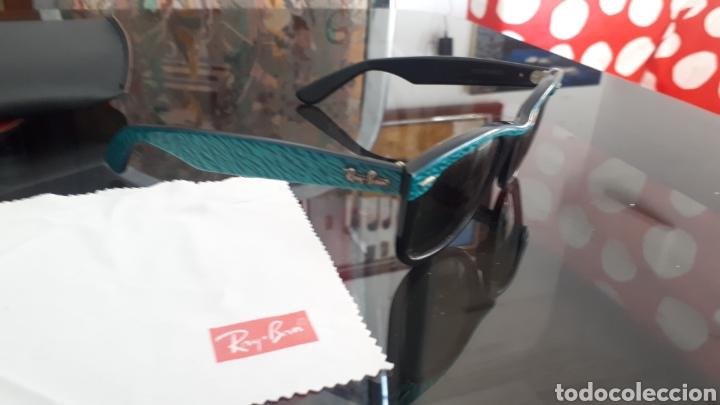 Vintage: Gafas Ray Ban WAYFARER montura concha verde made in usa - Foto 4 - 215149160