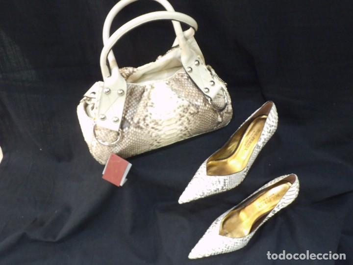 ZAPATOS DE PITÓN -BOL PERDIX- HIELO (Vintage - Moda - Mujer)