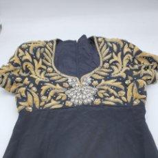 Vintage: VESTIDO FIESTA LARGO ( TALLA P ) VER MEDIDAS. Lote 220372222