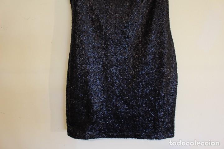 Vintage: Vintage Vestido Negro Tubo con V-Backs Sequin Brand Boyi 34/36 - Foto 5 - 221516445