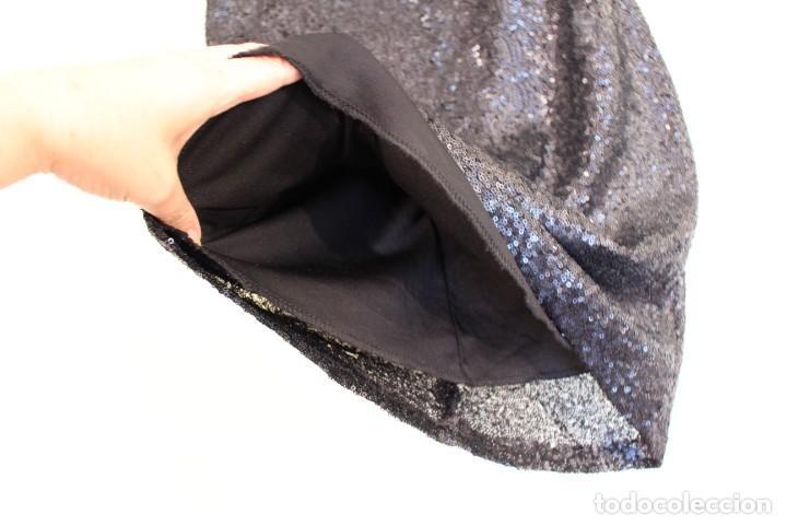 Vintage: Vintage Vestido Negro Tubo con V-Backs Sequin Brand Boyi 34/36 - Foto 6 - 221516445