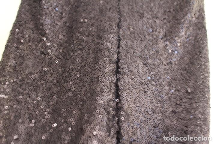 Vintage: Vintage Vestido Negro Tubo con V-Backs Sequin Brand Boyi 34/36 - Foto 11 - 221516445