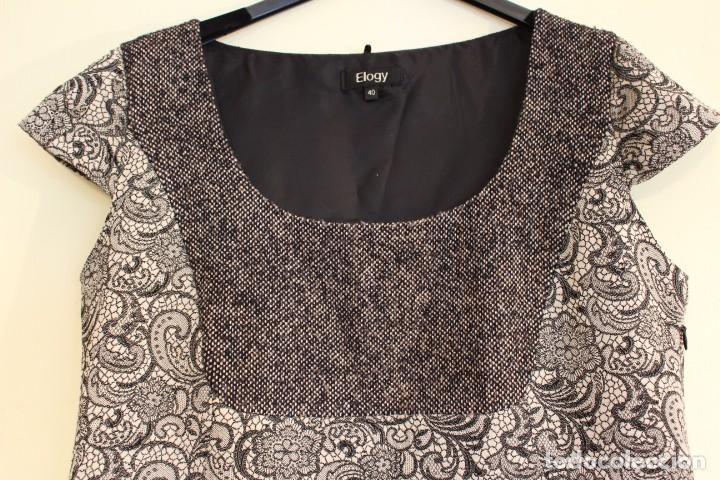 Vintage: Vintage Vestido Negro Satinado Gris de la marca ELOGY 40 - Foto 2 - 221516715
