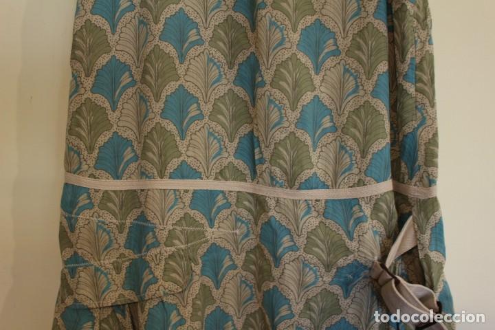Vintage: Vintage Vestido 100% algodón flores secas en verde y azul DKNY Mark 14 (38) - Foto 3 - 221517216