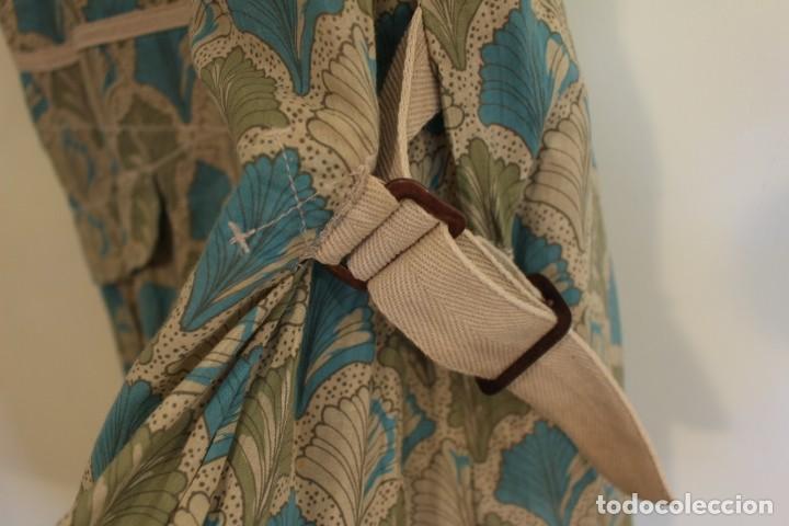 Vintage: Vintage Vestido 100% algodón flores secas en verde y azul DKNY Mark 14 (38) - Foto 4 - 221517216