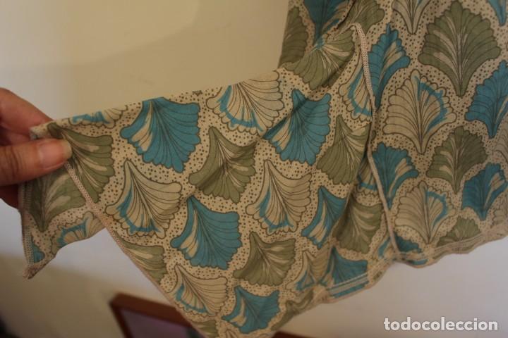 Vintage: Vintage Vestido 100% algodón flores secas en verde y azul DKNY Mark 14 (38) - Foto 6 - 221517216