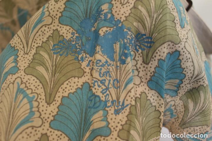 Vintage: Vintage Vestido 100% algodón flores secas en verde y azul DKNY Mark 14 (38) - Foto 7 - 221517216
