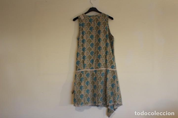 Vintage: Vintage Vestido 100% algodón flores secas en verde y azul DKNY Mark 14 (38) - Foto 11 - 221517216
