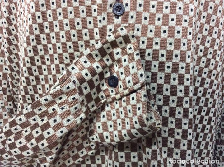 Vintage: Envió 8€. Camisa de hombre de fiesta marca GIANFRANCO FERRE de los 90. Talla XXL en muy buen estado - Foto 5 - 221554578