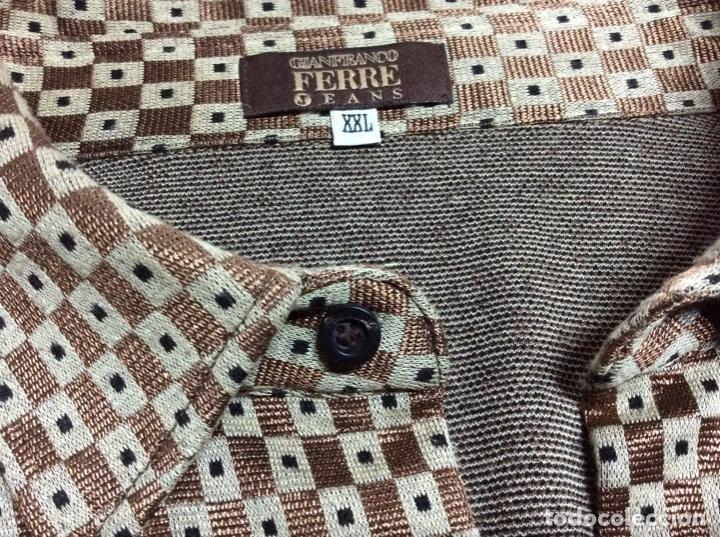 Vintage: Envió 8€. Camisa de hombre de fiesta marca GIANFRANCO FERRE de los 90. Talla XXL en muy buen estado - Foto 6 - 221554578