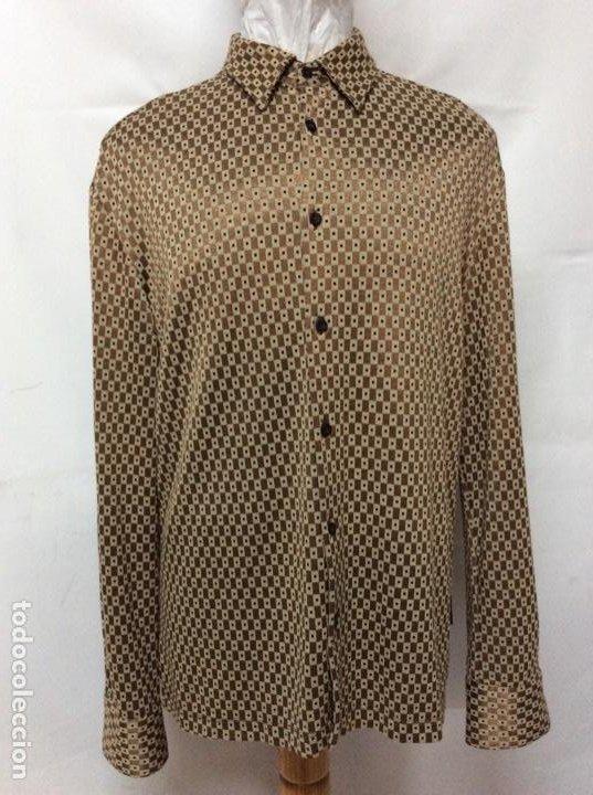 Vintage: Envió 8€. Camisa de hombre de fiesta marca GIANFRANCO FERRE de los 90. Talla XXL en muy buen estado - Foto 2 - 221554578