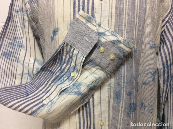 Vintage: Envió 8€. Camisa de hombre de la marca ETRO de los 80. Talla XXL en muy buen estado - Foto 4 - 221558082