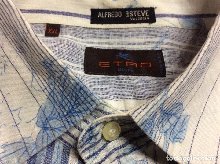 Vintage: Envió 8€. Camisa de hombre de la marca ETRO de los 80. Talla XXL en muy buen estado - Foto 7 - 221558082