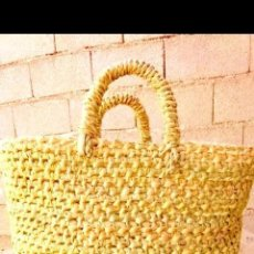 Vintage: TRADITIONAL- MOROCCAN SHOPPING -BAG, HAND-WOVEN WITH NATURAL -MATERIALS, 30 CM BY 20 CM LONG. Lote 221704963