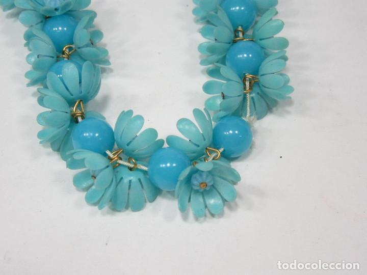 Vintage: Pulsera Hippy de flores. Plástico. Original de los años 70. - Foto 3 - 222110543